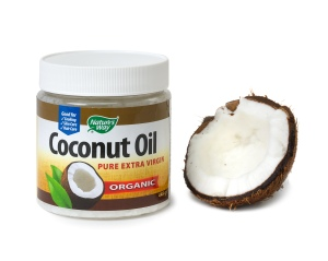 coconut oil plus open nut